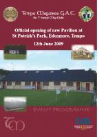 2009 Tempo Maguire GAC New Pavillion Handbook